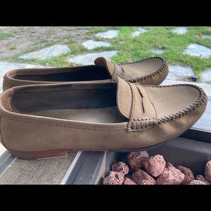 Salvatore Ferragamo Shoes - Salvatore Ferragamo mens brown suede loafers